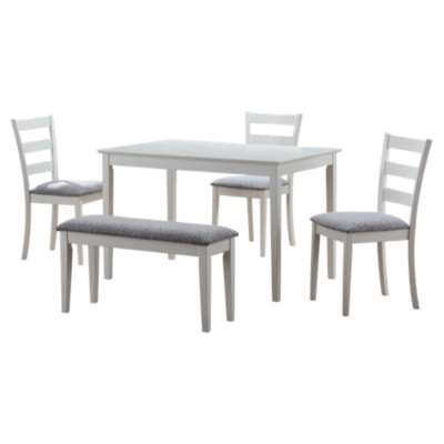 Picture for 5-Piece Dining Set with Bench and 3 Side Chairs by Monarch