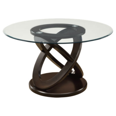 "Picture of Dark Espresso 48"" Round Dining Table by Monarch"