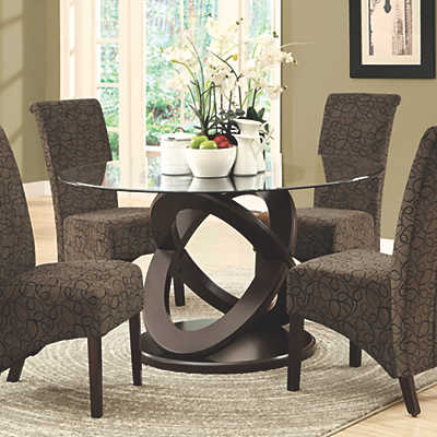 Dark Espresso 48 Round Dining Table Smart Furniture