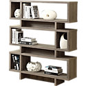"Dark Taupe for 55"" Modern Bookcase by Monarch (MRCI253-I32)"