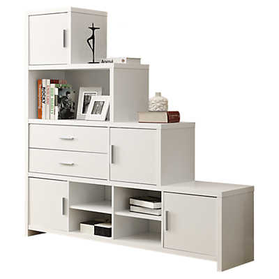 Picture of White Stairstep Bookcase