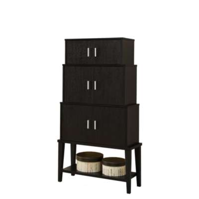 Picture for Cappuccino Stacking Storage Cabinet by Monarch