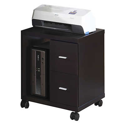Picture of Cappuccino 2-Drawer Computer Stand by Monarch