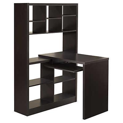corner desk with shelves smart