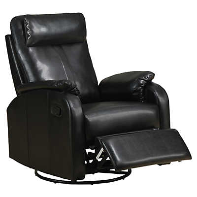 Picture of Bonded Leather Swivel Rocker Recliner by Monarch
