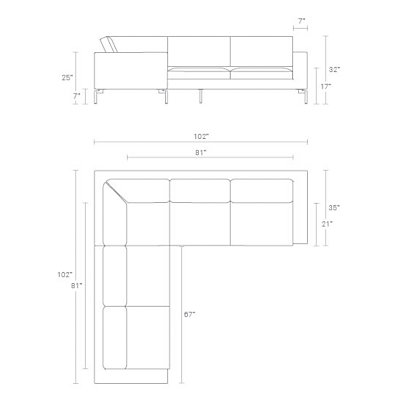 New Standard Small Sectional Dimensions