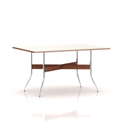 NS5851-WHITE: Customized Item of Nelson Swag Leg Rectangular Dining Table by Herman Miller (NS5851)