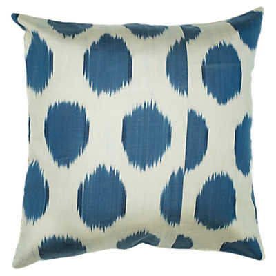 Picture of Silk Ikat Polka Dots Decorative Pillow