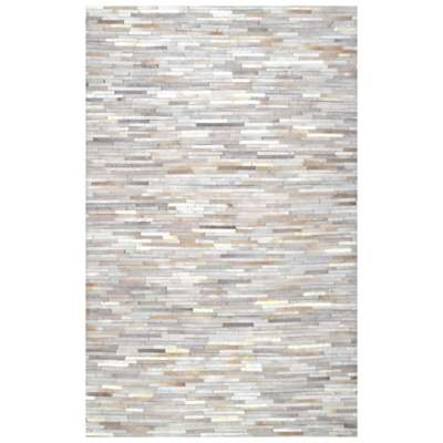 Picture for Hand Woven Clarity Patchwork Cowhide Rug by nuLOOM