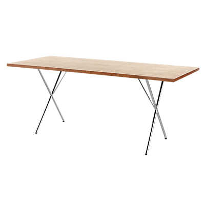 "Picture of Nelson X-Leg Table, 30"" x 60"" Veneer Top by Herman Miller"
