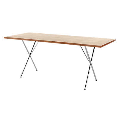 "Picture of Nelson X-Leg Table, 36"" x 84"" Veneer Top by Herman Miller"