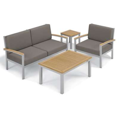 Picture for Travira 4-Piece Seat and Table Chat Set by Oxford Garden