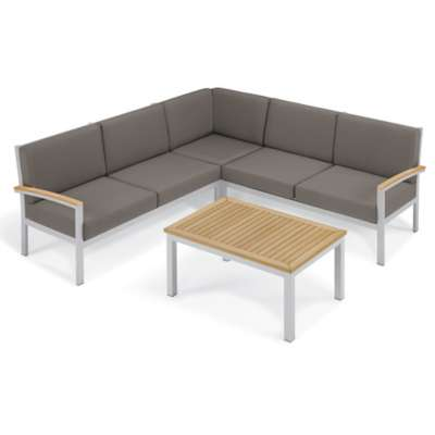 Picture for Travira 4-Piece Loveseat and Coffee Table Chat Set by Oxford Garden