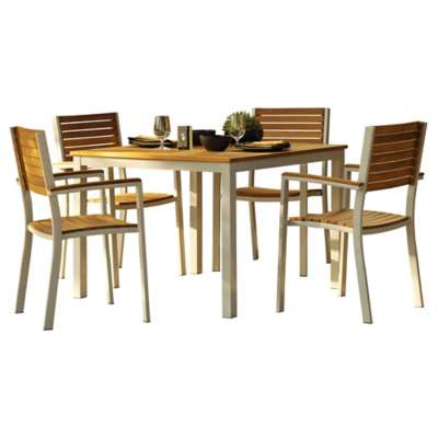 Picture for Travira 5-Piece Slatted Dining Set by Oxford Garden