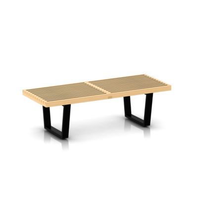 "PB48-METAL-WALNUT: Customized Item of Nelson Platform Bench, 48"" Wide by Herman Miller (PB48)"