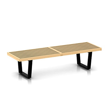 "PB60-METAL-MAPLE: Customized Item of Nelson Platform Bench by Herman Miller, 60""  Wide (PB60)"