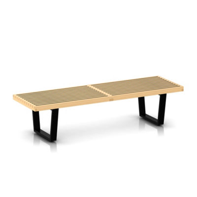 "PB60-METAL-WALNUT: Customized Item of Nelson Platform Bench by Herman Miller, 60""  Wide (PB60)"