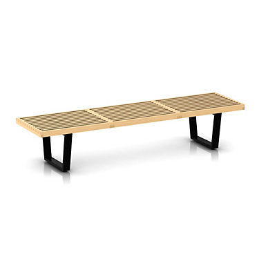 """PB72-METAL-MAPLE: Customized Item of Nelson Platform Bench by Herman Miller, 72"""" Wide (PB72)"""