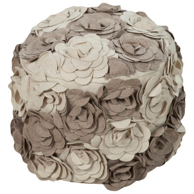 Picture of Felted Floral Pouf by Surya