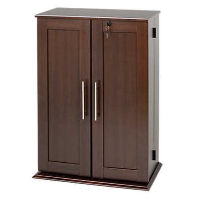 Picture of Small Locking Media Storage Cabinet with Shaker Doors