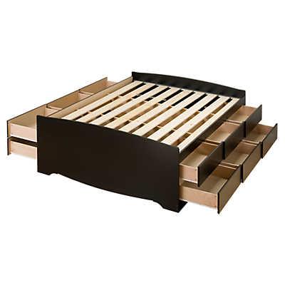 tall full platform storage bed