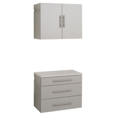 "Picture of 2-Piece HangUps 30"" Storage Cabinet Set A"