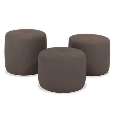 Picture of Keg Ottoman with Casters