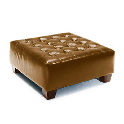 Picture of Walnut Grove Leather Ottoman