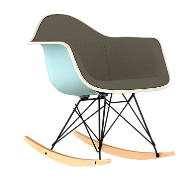 RAR.U47OUZFZF14A43: Customized Item of Eames Upholstered Molded Plastic Rocker by Herman Miller (RAR.U)