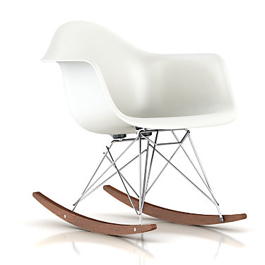 RARCHBKOUZE: Customized Item of Eames Molded Plastic Rocking Chair by Herman Miller (RARCH)