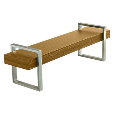 RETURNBENCH-BLACK STAINED OAK: Customized Item of Return Bench by Gus Modern (RETURNBENCH)