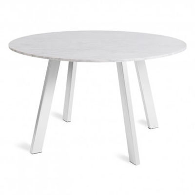"Picture of Right Round 52"" Marble Dining Table by Blu Dot"