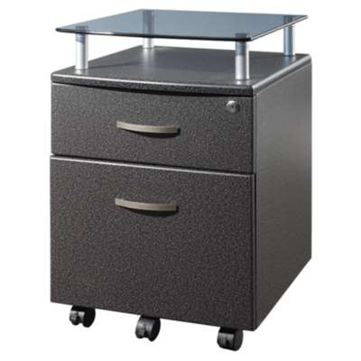 Picture for Techni Mobili 1-Drawer Rolling Glass Top File Cabinet