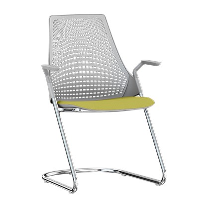 herman miller sayl side chair with sled base smart furniture