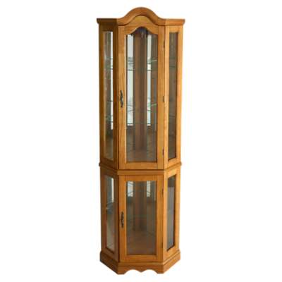 Picture for Lincoln Oak Corner Curio Cabinet