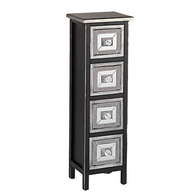 Picture of Studded 4-Drawer Storage Tower