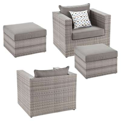 Picture for Sydney Outdoor Deep Seating Chair and Ottoman 4-Piece Set