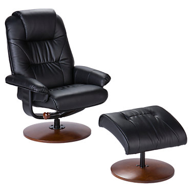 SEIUP4903RC: Customized Item of Anorak Bonded Leather Recliner and Ottoman (SEIUP)