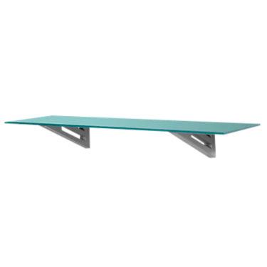 SHIMMERJ11x36-BLACK_SILVER: Customized Item of Shimmer Floating Wall Shelf, Jet Brackets by Smart Furniture (SHIMMERJ)