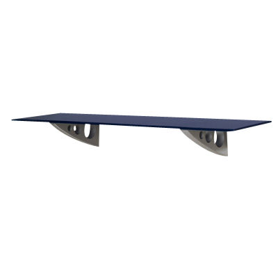 Picture of Shimmer Floating Wall Shelf, Tectur Brackets