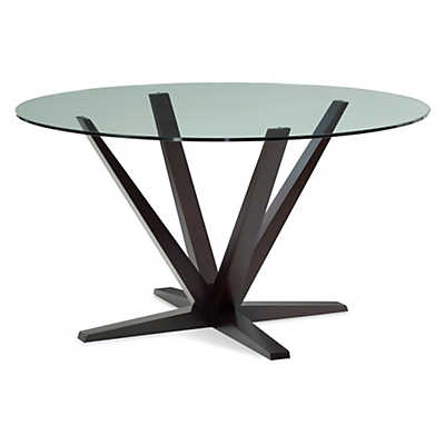 Picture of Aura Round Glass Top Dining Table by Saloom