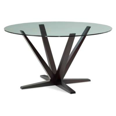 Picture for Aura Round Glass Top Dining Table by Saloom