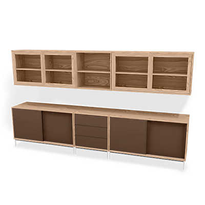 Picture of MODO 5x2 Storage Wall SM 722-732 by Skovby