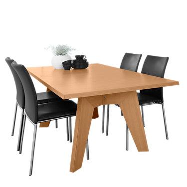 SKSM13-BLACK WENGE: Customized Item of Rectangle Extending Dining Table SM 13 by Skovby (SKSM13)