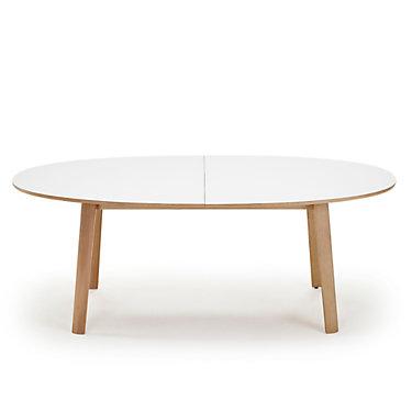 SKSM20-WHITELAMTOP_OAKWHITELEGS: Customized Item of NEO SM 20 Dining Table by Skovby (SKSM20)