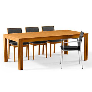 SKSM24-SP-WHITE LAM-SOLID OAK SOAP: Customized Item of Rectangular Extending Dining Table SM 24 by Skovby (SKSM24)