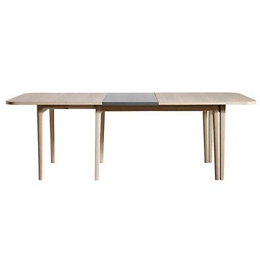 SKSM28-OAKWHITETOP_OAKWHITELEGS-NOLEAVES: Customized Item of NEO SM 28 Dining Table by Skovby (SKSM28)