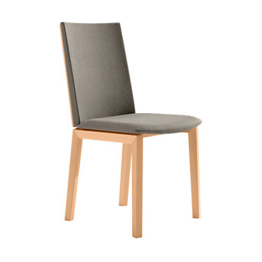 SKSM51-SP-WENGE-WHITE LEATHER: Customized Item of Dining Chair SM 51 by Skovby, Set of 2 (SKSM51)