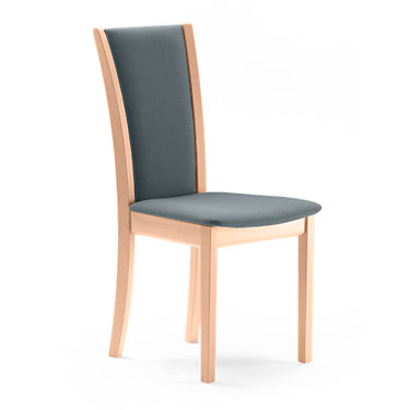 SKSM64-QS-BLACK WENGE-ROSE GREY: Customized Item of Dining Chair SM 64 by Skovby, Set of 2 (SKSM64)