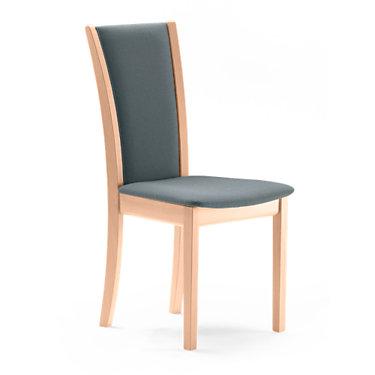 SKSM64-SP-CHERRY-BLACK LEATHER: Customized Item of Dining Chair SM 64 by Skovby, Set of 2 (SKSM64)
